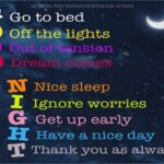 Every Letter means in the form of Good Night