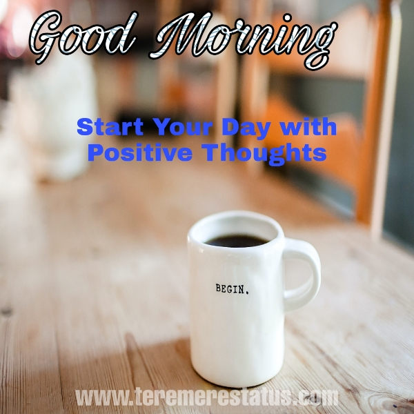 Black Coffee White Cup with Good Morning