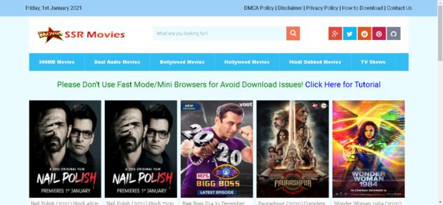 SSRMovies 2021: 300MB Dual Audio Movies (Hindi & English) Download Website, Latest WebSeries2021 News - TereMereStatus